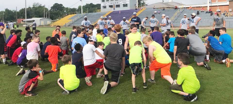 The Jones Mission Youth Football Camp